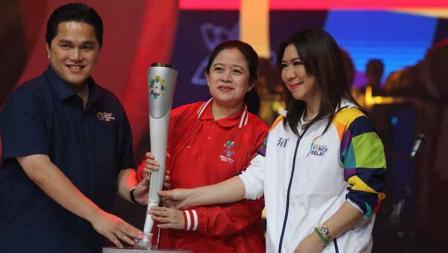 Erick Thohir, Puan Maharani, dan Susy Susanti setelah suksesnya Asian Games 2018.
