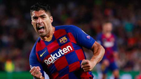 Striker Barcelona, Luis Suarez disebut bakal berlabuh ke Major League Soccer (MLS). Hal itu diungkapkan oleh Nico Lodeiro yang bermain di Seattle Sounders. - INDOSPORT
