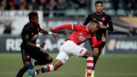 Fred dalam laga AZ Alkmaar vs Manchester United - INDOSPORT