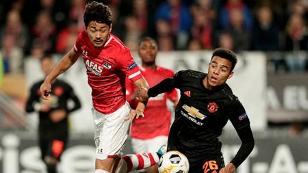AZ Alkmaar bermain imbang 0-0 melawan Manchester United dalam laga kedua grup L Liga Europa 2019/20 pada Jumat (4/10/19) di Cars Jeans Stadion. - INDOSPORT