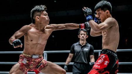 Adrian Papua Bad Boys Mattheis bertarung di ring MMA. - INDOSPORT
