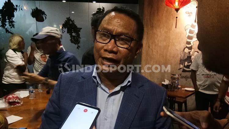 Bakal calon ketua umum PSSI 2019-2023, Fary Djemy Francis. Copyright: Petrus Manus DaYerimon/INDOSPORT