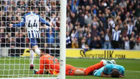 Hasil Pertandingan Liga Inggris Brighton vs Tottenham. - INDOSPORT