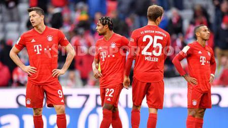 Ekspresi kekecewaan pemain Bayern Munchen saat dibungkam oleh Hoffenheim. - INDOSPORT