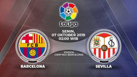 Dengan segenap rekor apik, Barcelona diunggulkan untuk mengalahkan Sevilla dalam laga pekan delapan LaLiga Spanyol pada Senin (7/10/19) pukul 02.00 WIB. - INDOSPORT