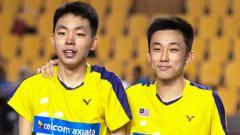 Indosport - Yap Roy King (kiri) bersama dengan Ooi Jhy Dar, ganda putra muda Malaysia.