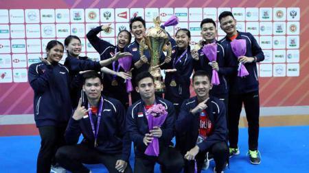 Sebagian para warganet dengan menyinggung KPAI setelah tim beregu Indonesia membawa pulang piala Kejuaraan Dunia Bulu Tangkis Junior 2019, Sabtu (5/10/19). - INDOSPORT