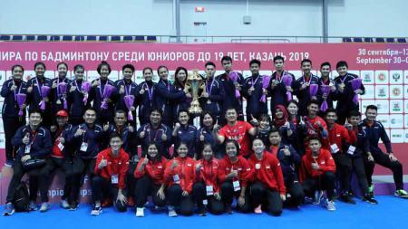 BWF menyebut tiga pebulutangkis junior Indonesia ini memiliki masa depan cerah. - INDOSPORT