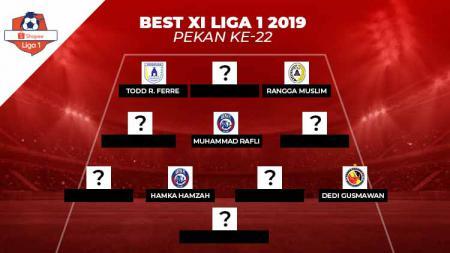 Starting terbaik Liga 1 2019 Pekan 22. - INDOSPORT