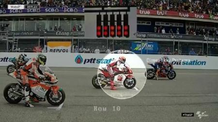 Dimas Ekky Pratama melakukan jump start di Moto2 Thailand 2019 - INDOSPORT