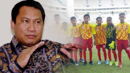 Fary Djemy Francis calon ketum PSSI dan SSB Bintang Timur Atambua. - INDOSPORT