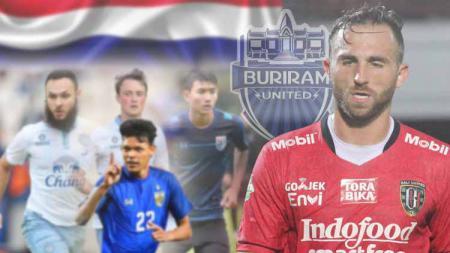 Secara statitik gol, Ilija Spasojevic masih lebih baik ketimbang 4 striker Buriram United. - INDOSPORT