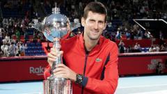 Indosport - Novak Djokovic memenangkan Jepang Terbuka 2019.