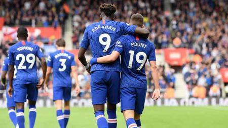 Frank Lampard mengaku sempat mengejek Tammy Abraham mandul sebelum Chelsea bertandang ke markas Watford, Minggu (03/11/19).Darren Walsh/Chelsea FC via Getty Images. - INDOSPORT