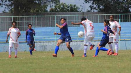 Situasi pertandingan Arema FC vs Persipura putri - INDOSPORT