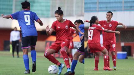 Situasi pertandingan Persija Jakarta Putri melawan PSIS Semarang - INDOSPORT