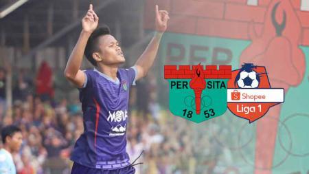 Daftar top skor hingga babak 8 besar Liga 2 2019 membuat Striker Persita Tangerang Sirvi Arfani dipepet penyerang Persiraja Banda Aceh Assanur Rijal. - INDOSPORT