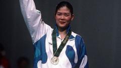 Indosport - Bang Soo-hyun saat memenangkan kejuaraan bulutangkis di tahun 1996
