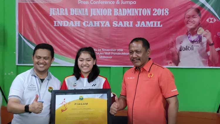 Indah Cahya Sari Jamil juara dunia junior bulutangkis 2019. Copyright: heraldmakassar.com