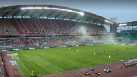 Timnas Indonesia U-23 kalah 0-1 dari Yordania pada laga kedua CFA Team China Chong Qing Three Gorges Bank Cup International Football Tournament (13/10/19). - INDOSPORT