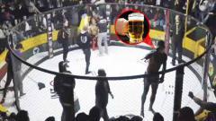 Indosport - Petarung MMA asal Brasil, Paulo Bananad tengah meminum bir di tengah ronde sebelum dipermalukan rivalnya asal Peru, Johnny Iwasaki