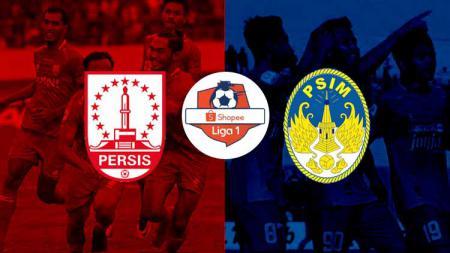 Logo Persis Solo, Liga 1, dan PSIM Yogyakarta. - INDOSPORT