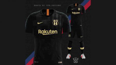 Jersey baru Barcelona. - INDOSPORT