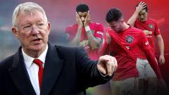 Indosport - Starting XI terbaik Manchester United ala Sir Alex Ferguson. Ada Cristiano Ronaldo.