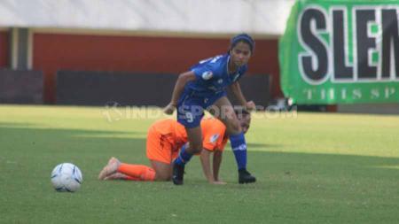 Laga pertandingan Persib Bandung Putri vs Persija Jakarta Putri di Liga 1. - INDOSPORT