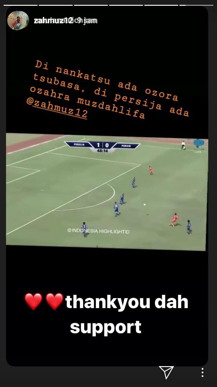 Kalahkan Persib Bandung, Zahra Muzdalifah Disebut Titisan Tsubasa Copyright: instagram.com/zahmuz12