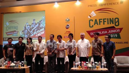 Konferensi Pers Caffino Superliga Junior 2019 pada Rabu (09/10/19) di salah satu hotel bilangan Tanah Abang, Jakarta. - INDOSPORT