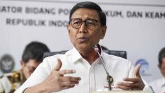 Indosport - Kementerian Koordinator Bidang Politik, Hukum, dan Keamanan Republik Indonesia, Wiranto, sekaligus ketua PBSI.