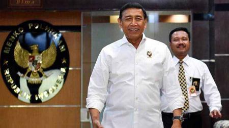 Kementerian Koordinator Bidang Politik, Hukum, dan Keamanan Republik Indonesia, Wiranto. - INDOSPORT