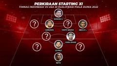 Indosport - Perkiraan Starting XI Timnas Indonesia vs UEA di Kualifikasi Piala Dunia 2022.