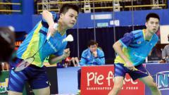 Indosport - Pasangan ganda putra Malaysia, Ong Yew Sin/Teo Ee Yi.