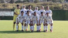 Indosport - Arema FC Putri siap unjuk gigi di ajang Liga 1 Putri.