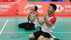 Indosport - Pebulutangkis Indonesia, Leo Rolly Carnando dan Indah Cahya Sari Jamil.