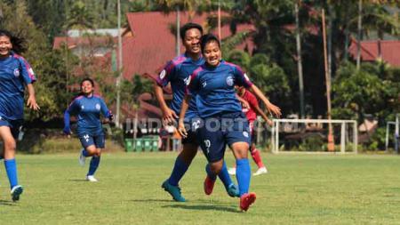Sheva Imut menjadi penentu kemenangan Arema putri atas Bali United - INDOSPORT