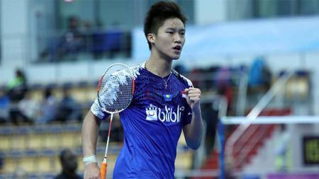 Yonathan Ramlie mampu mengejutkan  Kejuaraan Dunia Junior Bulutangkis 2019 kategori perorangan dengan melaju ke babak semifinal. - INDOSPORT