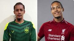 Indosport - Kiper PSIS Semarang Jandia Eka Putra dianggap memiliki kemiripan dengan bek Liverpool, Virgil van Dijk.