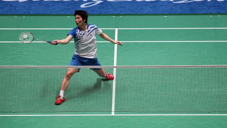 Rival abadi Anthony Sinisuka Ginting asal Korea Selatan, Son Wan-ho harus kembali tumbang di turnamen bulutangkis Fuzhou China Open 2019. - INDOSPORT