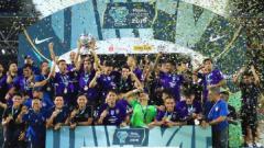 Indosport - Johor Darul Ta'zim II juarai Malaysia Challenge Cup 2019.