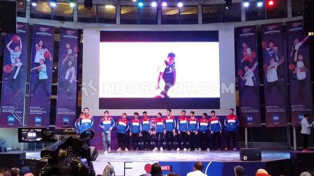 Acara pembuka Honda DBL 2019 DKI Jakarta-Champion Series di salah satu pusat perbelanjaan di bilangan Kebayoran Lama, Jakarta Selatan pada Minggu (131019). - INDOSPORT