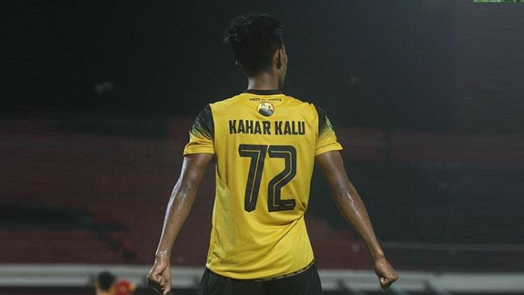 Pemain Barito Putera U-20 Kahar Muzzakar. Copyright: Instagram/@banuafootball