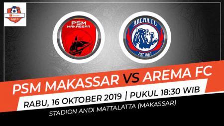 Prediksi pertandingan PSM Makassar vs Arema FC dalam lanjutan Shopee Liga 1 2019, Jumat (16/10/19), di Stadion Andi Mattalatta, Makassar. - INDOSPORT