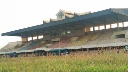 Stadion Utama Kebondalem, Kabupaten Kendal digadang-gadang sebagai lokasi final Liga 3 Jateng 2019, 20 Oktober mendatang. - INDOSPORT