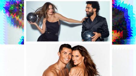 Sebelum Mohamed Salah, Alessandra Ambrosio Pernah Berpose Setengah Telanjang dengan Cristiano Ronaldo. - INDOSPORT
