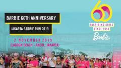 Indosport - Jakarta Barbie Run 2019 akan diadakan pada 2 November 2019. Event lari ini mengusung konsep fun run yang akan menyuguhkan momen sunset.