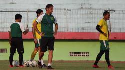Suasana latihan pemain Persebaya Surabaya jelang laga kontra Persib Bandung di Liga 1 2019.