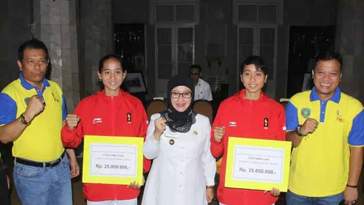 Perjuangan atlet Sepak Takraw asal Indramayu Lena dan Leni diharapkan menjadi inspirasi bagi para atlet lain Copyright: Humas Pemkab Indramayu